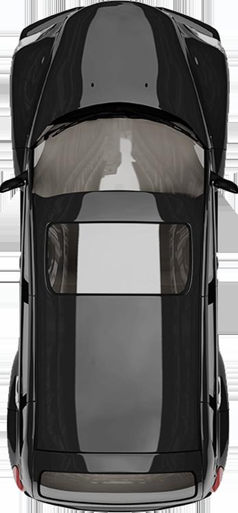 Auto von oben betrachtet